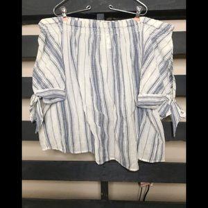 Lane Bryant 18/20 off shoulder nautical blouse